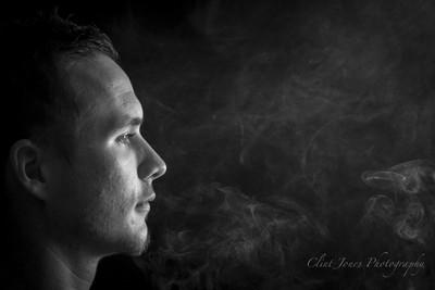 Breathing smoke