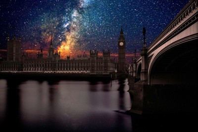 London without light pollution
