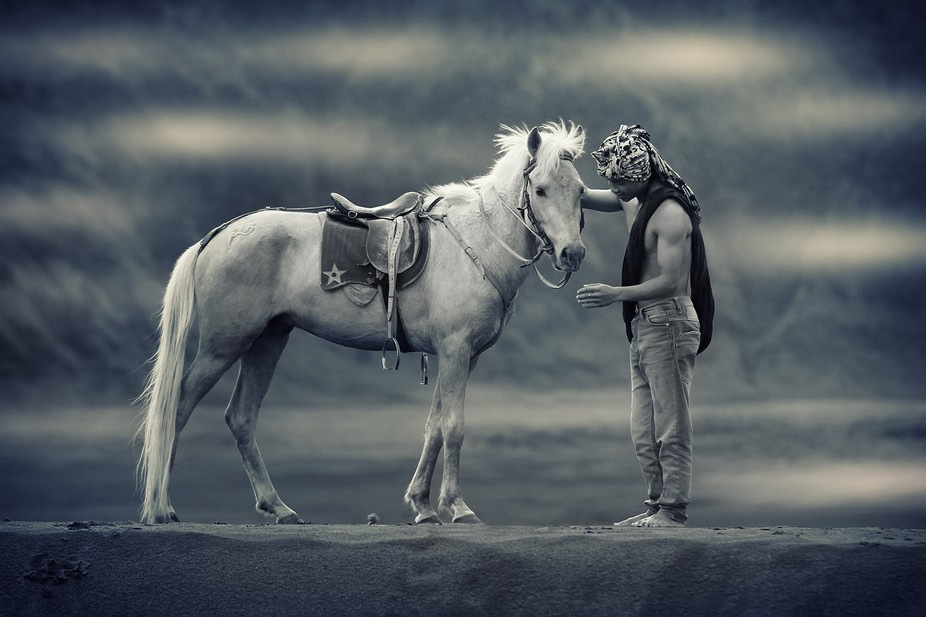 Pani with his horse