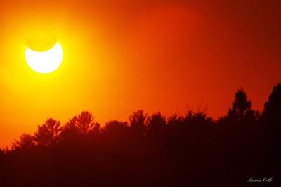 Cloudy Sunset Solar eclipse 2014