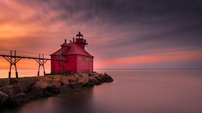Sturgeon Bay Lighthouse by ratulmaiti - Colors and Mood Photo Contest