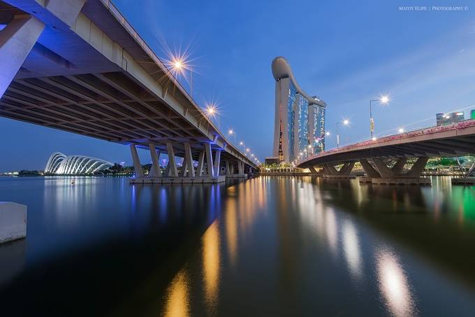 Marina Bay Sands by matoy - The Blue Hour Photo Contest