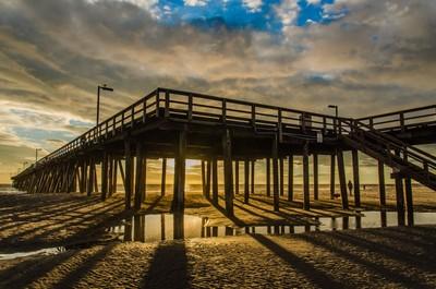 Hueneme Pier at sunset