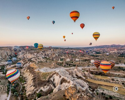 Hot-Air Balloons Over Goreme