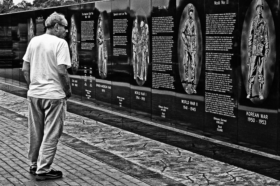 Another shot at the veterans memorial.