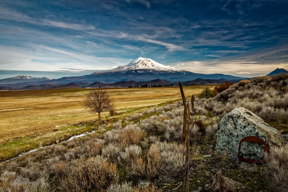 View of Mt. Shasta from Old Wagon Rd.