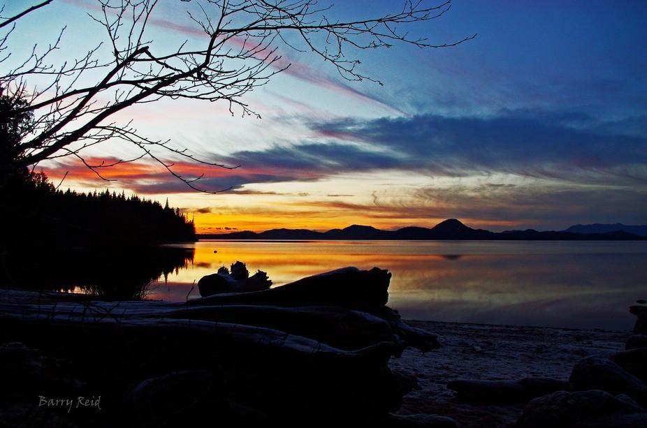 Kennedy Lake Sunset Dec 30 2014