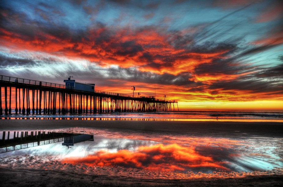 Awesome sunset during the king tides causing cool reflections