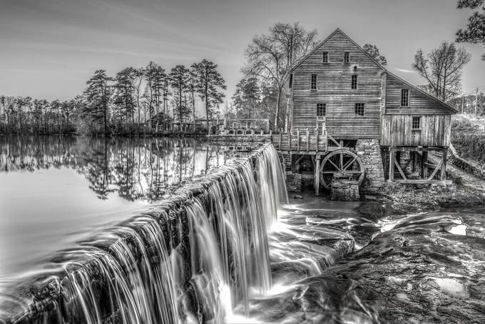 DSC_1357-Yates Mill_BW-3 by stephanherzog - Black And White Compositions Photo Contest