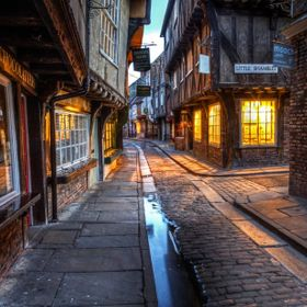 The Little Shambles York, The Shambles is an old street in York, England, with overhanging timber-framed buildings, some dating back as far as th...