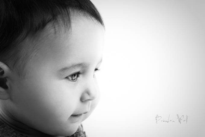 Baby Portrait by brendanvonwahl - Babies In Black And White Photo Contest