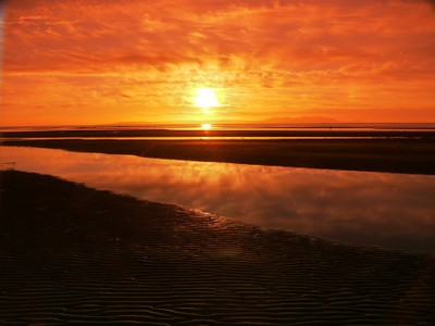 Sunset in Scotland.