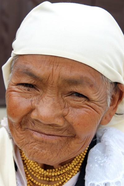 Elderly Indigenous Woman in Cotacachi