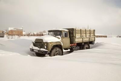Old Soviet Union truck