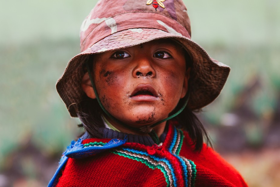 Indigenous girl. Somewhere near Quilotoa, Ecuador.
