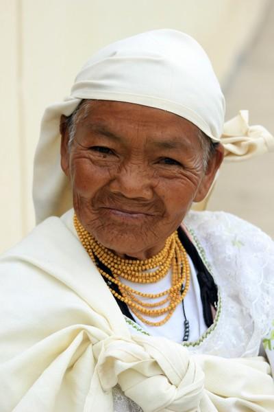 Elderly Woman in White