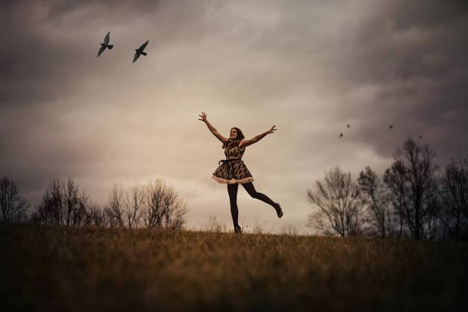 Learning to fly by Lynzybrooke - Getting Creative Photo Contest