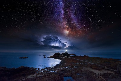 The Milky Way and the Storm