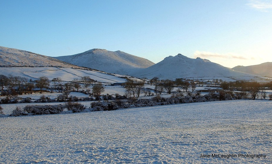 January 2015 went for a drive in the Mourne Mountains, County Down, Northern Ireland. The snow co...