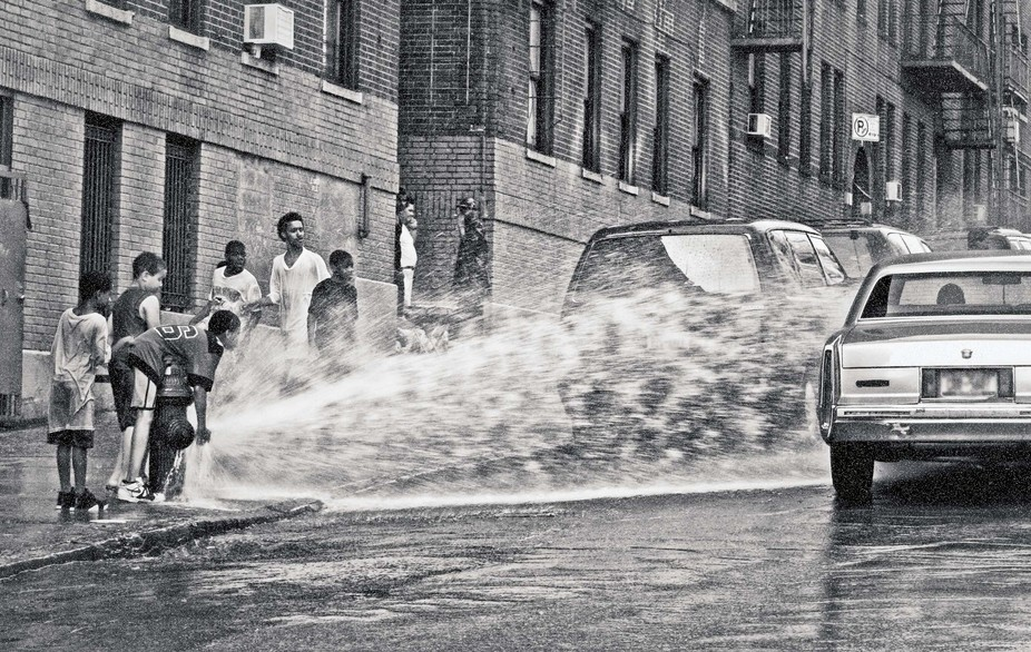 I took this shot in the streets of New York.  I was focusing for another shot when my lens went d...