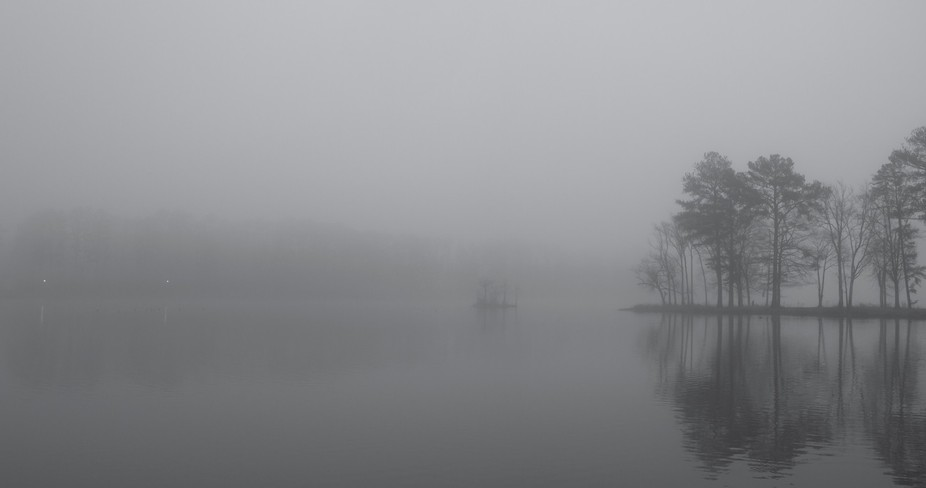 Another shot of fog on an Alabama lake.