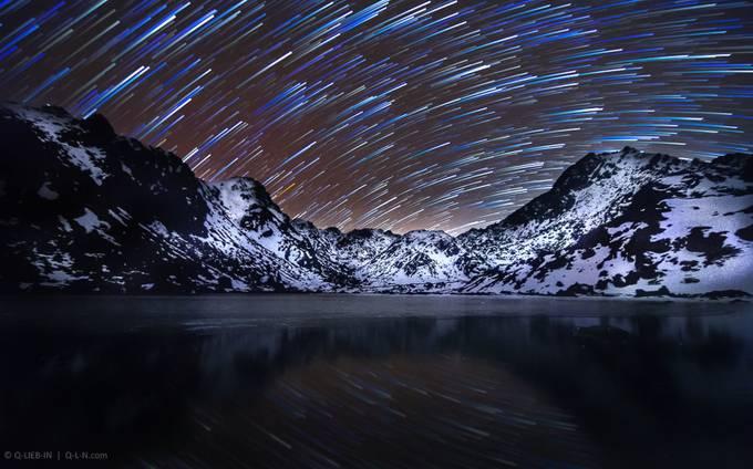 Mirror of mountains night by q-liebin - Foto Digital Volume 3 Photo Contest