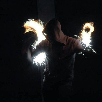 Sparks flying at spin burn