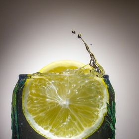 One of my work on high speed photography, featuring the lemon splash.