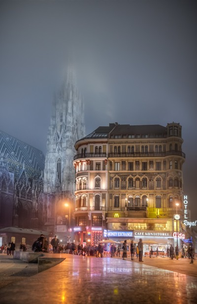 Austria - Misty evening