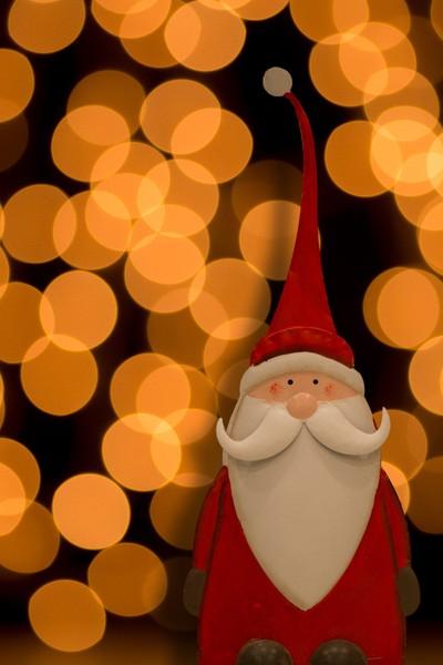 Santa and Golden Lights