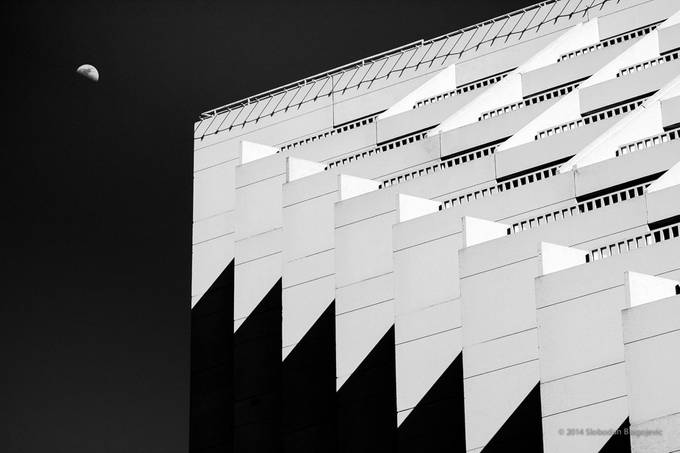 Shooting for The Moon - B&W by Slobodan_Blagojevic - Shapes and Lines Photo Contest