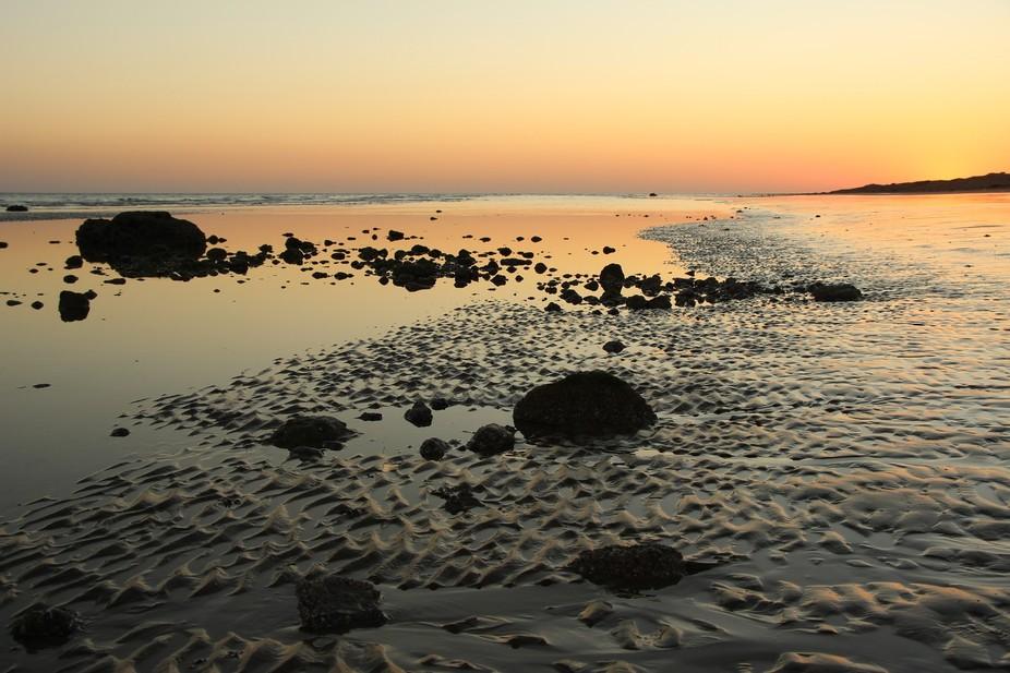 sunset, love and sea