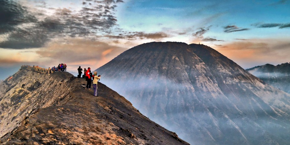 From the edge of the crater of Mount Bromo