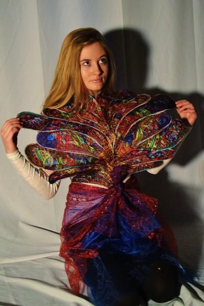 Textiles Butterfly dress