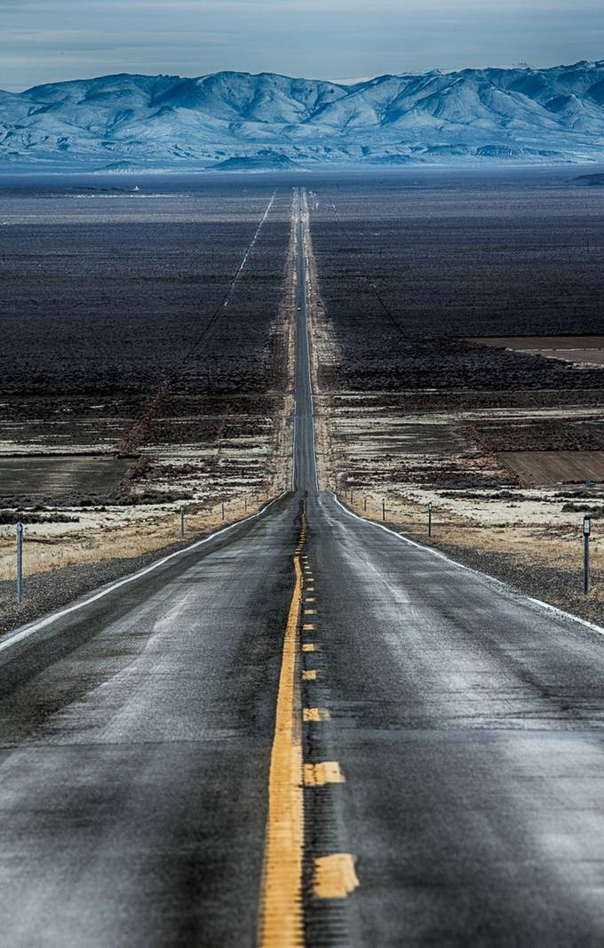 The long and not so winding roads of Northern Nevada by brentmorris - Layers and Composition Photo Contest