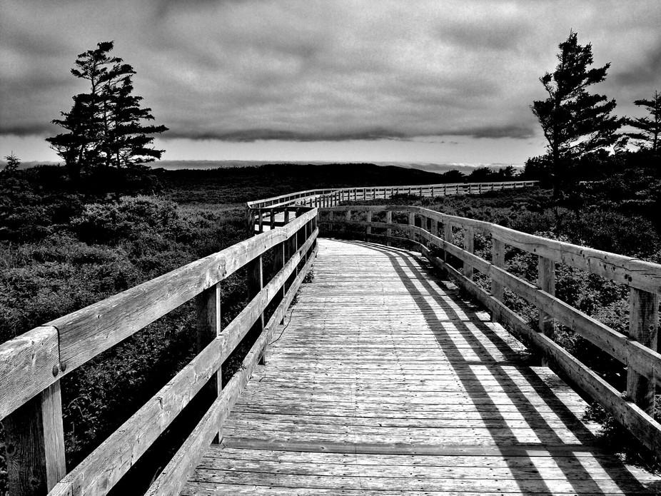 boardwalk in P.E.I. Canada