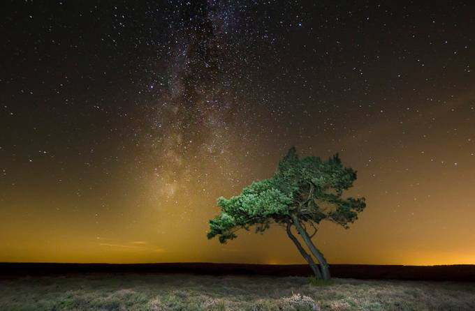 Egton Landscape Milky Way by davidrelph - Night Wonders Photo Contest