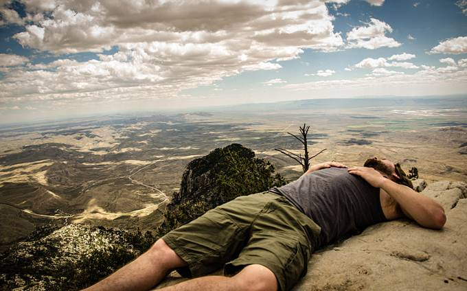 Resting on the Roof of Texas by OpenWorldPhotography - Layers and Composition Photo Contest