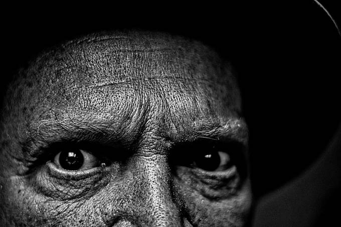 Darkened Eyes by brickdog - Selfies In Black and White Photo Contest