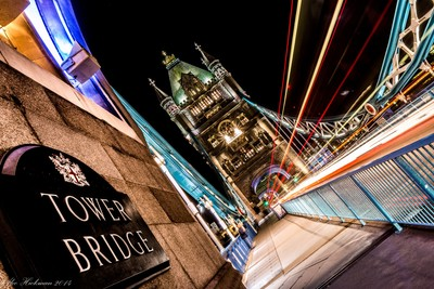 Tower Bridge in lights