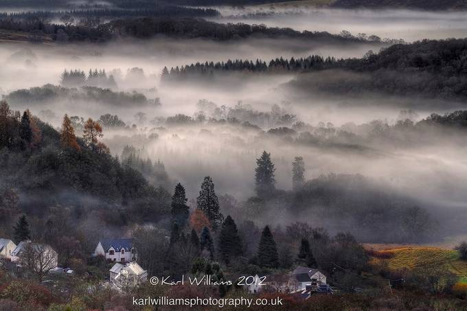Aberfoyle Mist by KarlWilliamsPhotography - Lost In The Fog Photo Contest
