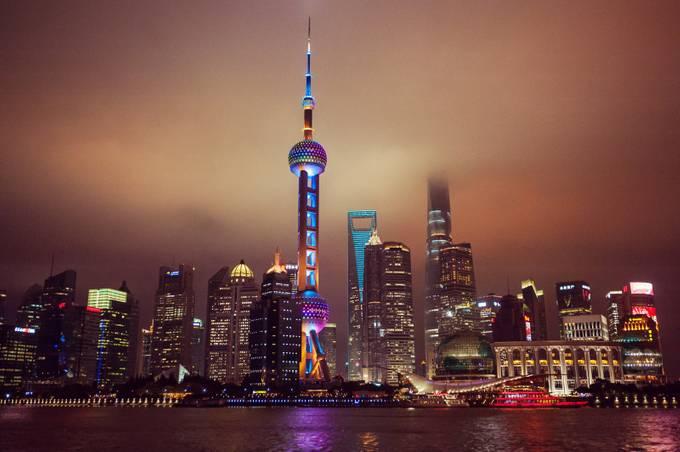 Shanghai at Night by Laska - Modern Cities Photo Contest