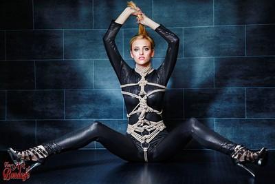 Tied black catsuit - Fine Art of Bondage