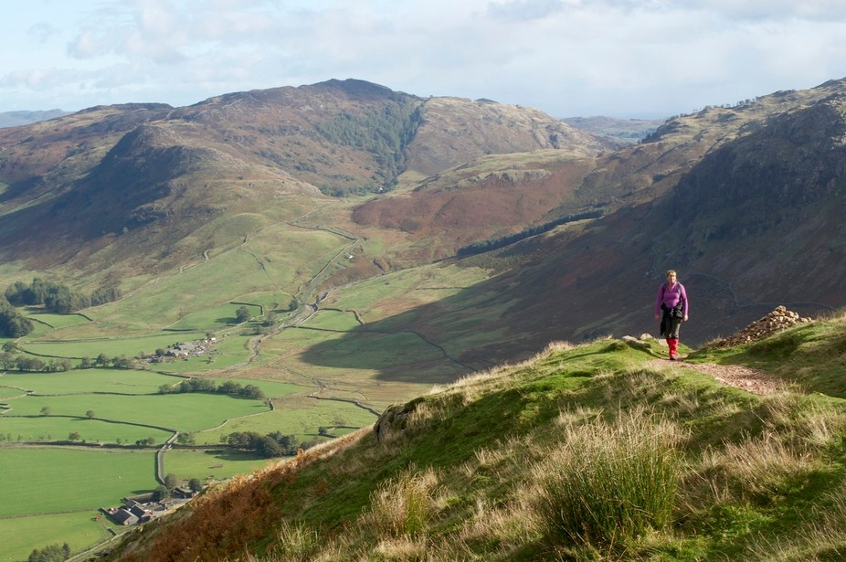 My wife and i set off on the path to Crinkle Crags in the English Lake District on a windy, showery day. The light was perfect for photography. The wind at the top almost lifted us off our feet.