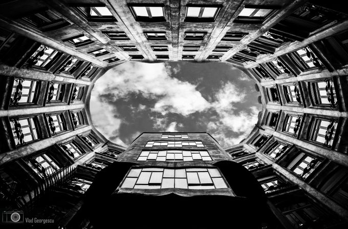 Casa Mila by Antoni Gaudi by vladgphoto - Depth In Black And White Photo Contest