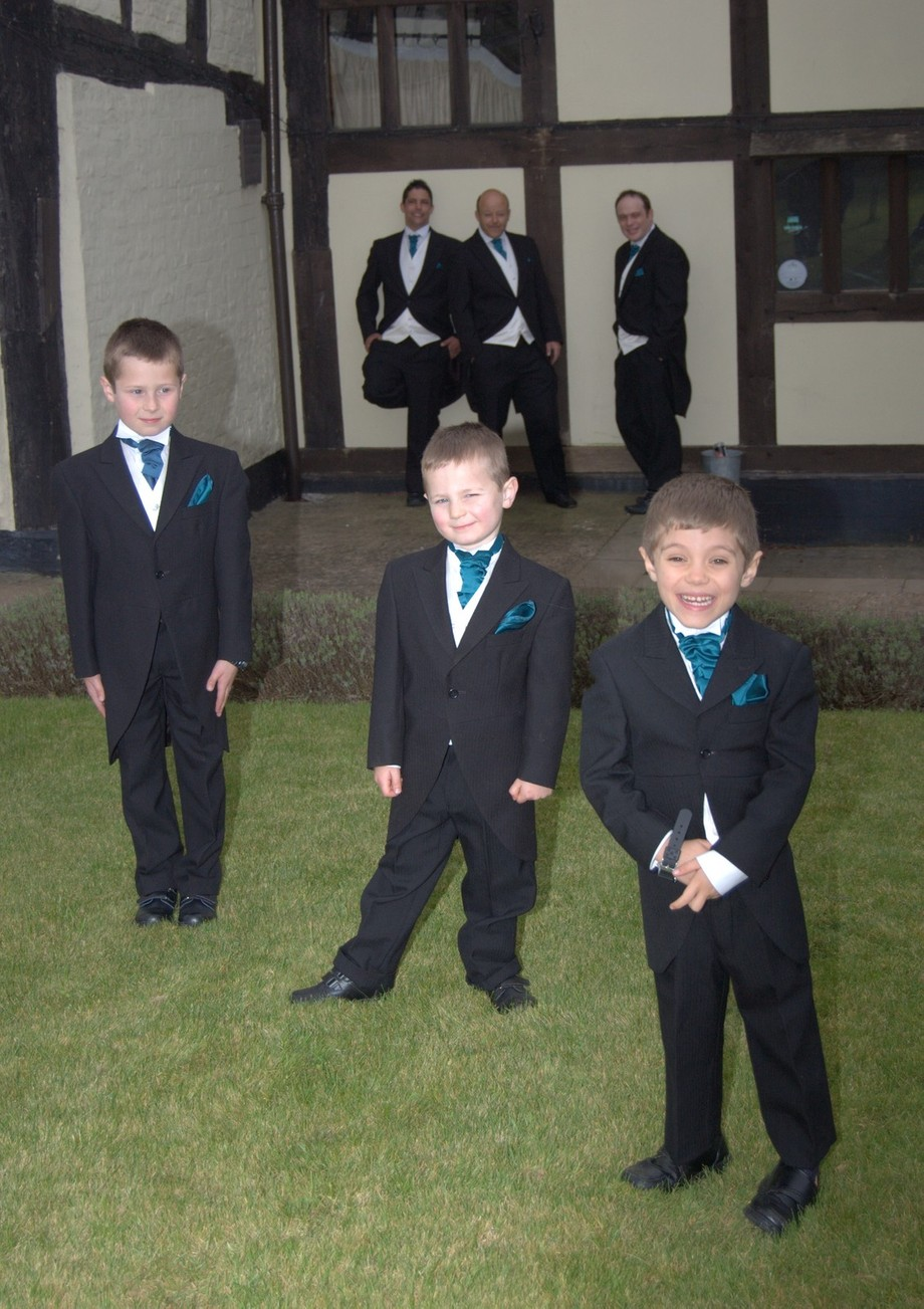 Page boys and groomsmen