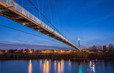 Footbridge of Agen - One year later