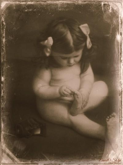 Japenese Cleaning Works 1923 Calendar (daguerreotype) photo of Anne