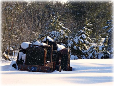 Old Tractor in Snow