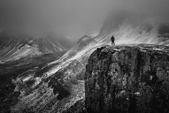 Lone Walker by SteveCheetham - Spectacular Cliffs Photo Contest
